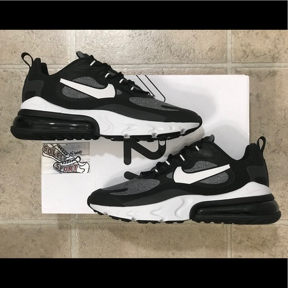 NEW Nike Air Max 270 React Black White Running 720 NWT